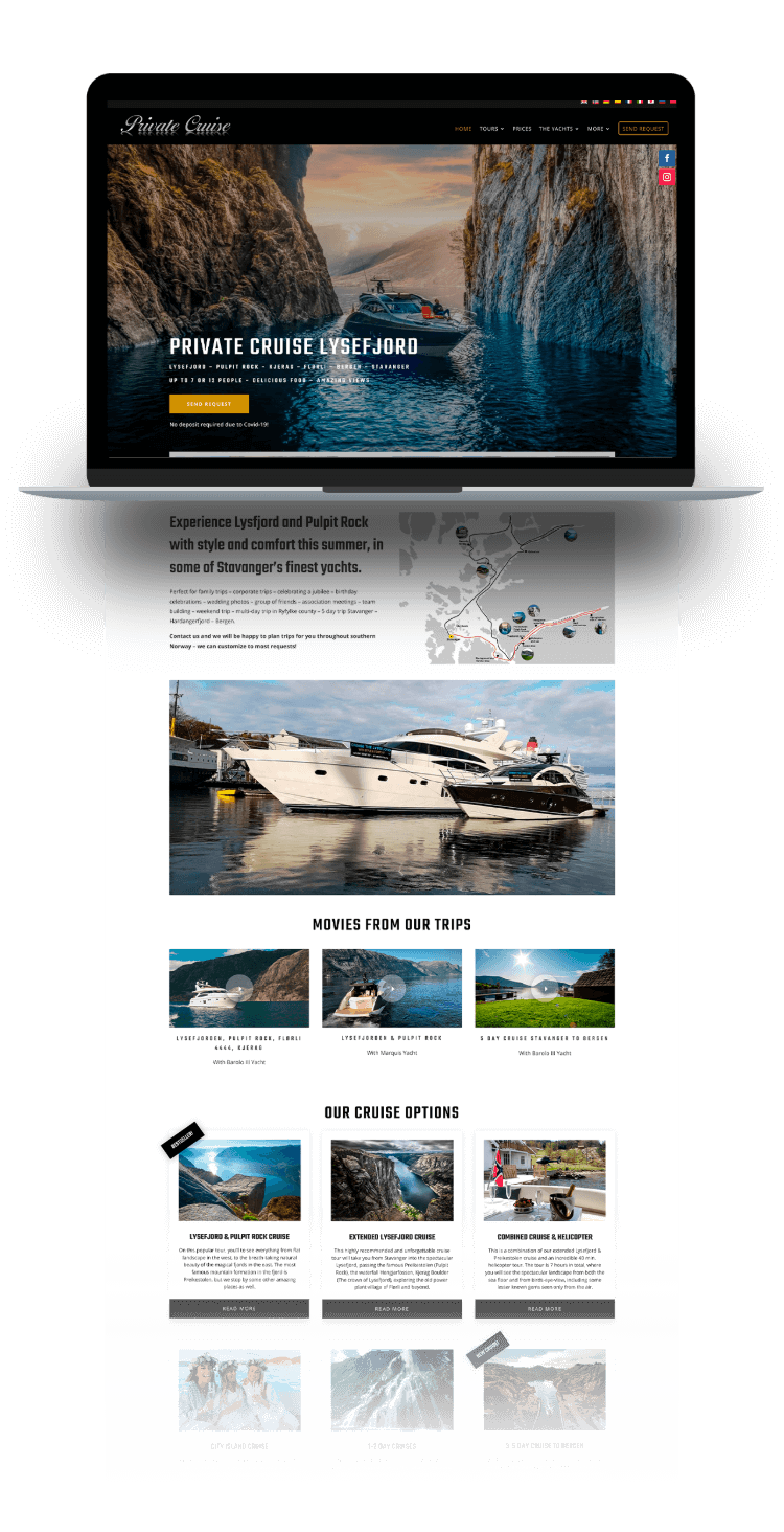 private cruise website new