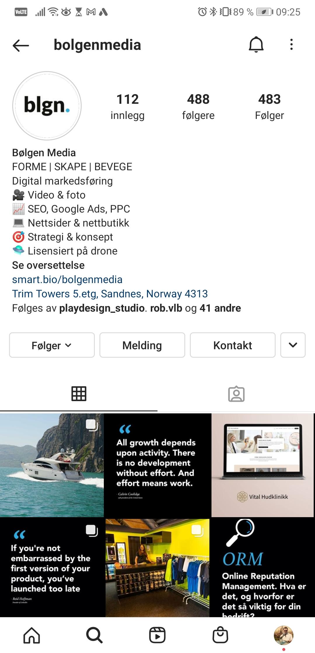 Bølgen Media Instagram profil