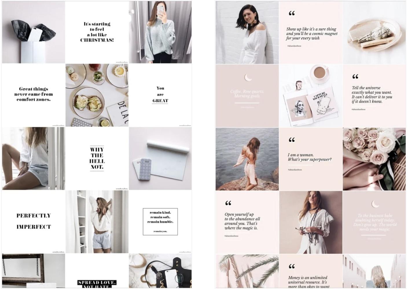 Instagram design og tema